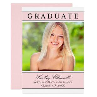 2020 Graduate | Pink and Black Graduation Party Invitation