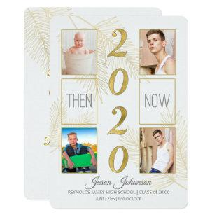 2020 Graduation Announcement Then and Now 4-Photo