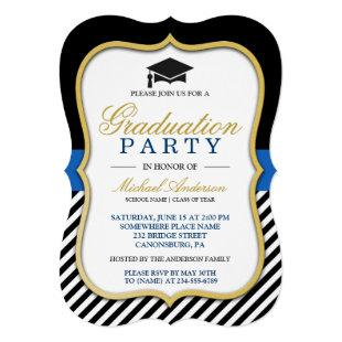 2020 Graduation Party Modern Gold Bracket Frame Invitation