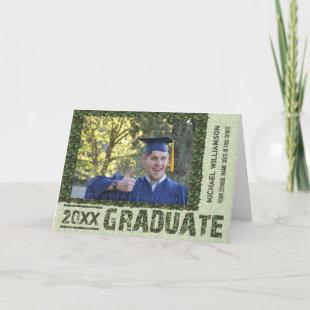 2020 Graduation Personalized Photo Camouflage Invitation
