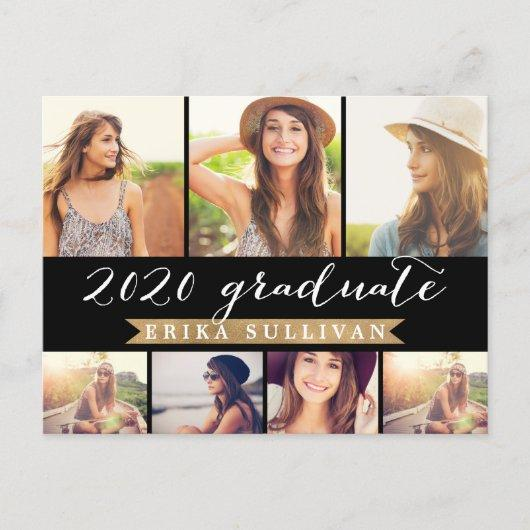 2020 Graduation Script Photo Collage Party Holiday Postcard