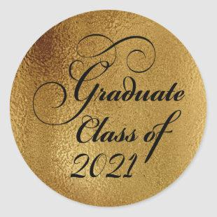 2021 Gold Graduation Party Thank You Seal