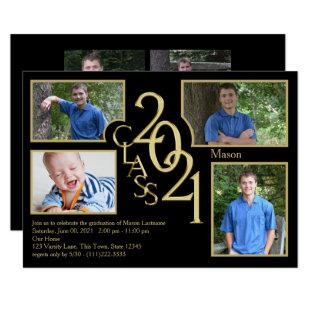 2021 Graduation Class of Quad Photo Invitation