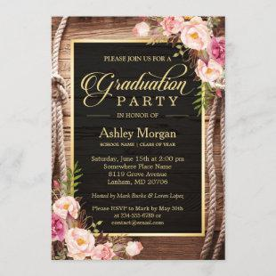 2021 Graduation Party Floral Rustic Country Wooden