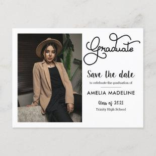 2021 Graduation Party | Save The Date Photo Announcement Postcard