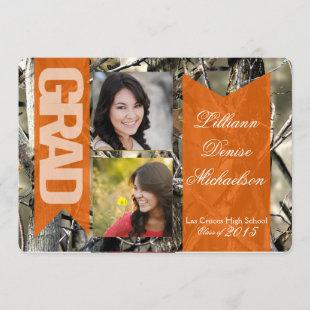 5x7 Hunters Camo Camouflage Senior Announcement