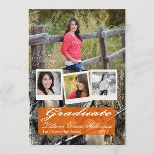 5x7 Hunters Camo Camouflage Wo Senior Announcement