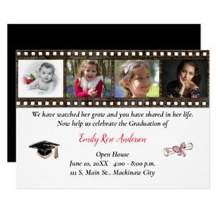 Age Progression Photo Graduation Open House Invitation