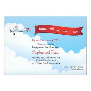 Airplane Banner Engagement Party Invitation