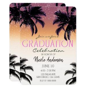 Aloha Hawaii Hawaiian Island Graduation Party Invitation