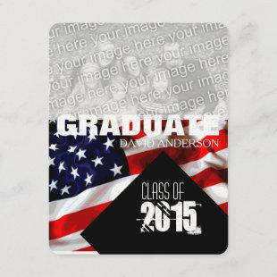American Flag Graduation Class of 2018 Invitation