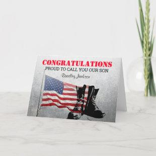 Army Soldier Graduation   Military Card