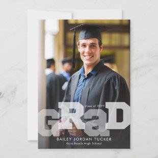 Athletic GRAD Overlay ANY Year Graduation Announcement