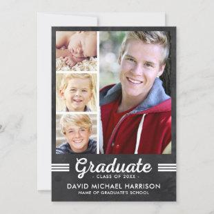 Athletic Multi-Photo Graduation Party Invitation