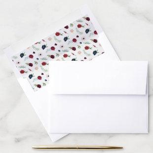 Autumn Garden | Burgundy Pattern Envelope Liner