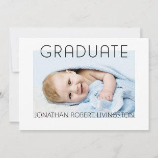 Baby Photo Graduation Future Plans Announcement