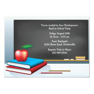Back to School Time Invitation