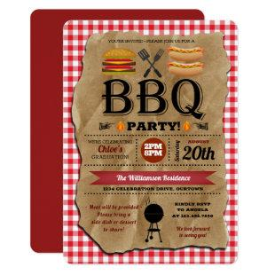 Backyard BBQ Summer Party Invitation