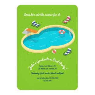 Backyard Pool Party Invitation