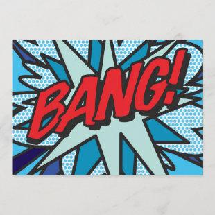 BANG Fun Retro Comic Book Pop Art Invitation