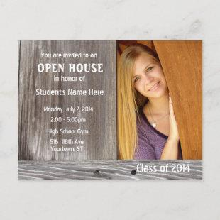 Barn Wood Open House Invitation Postcard