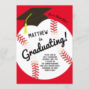 Baseball Graduation Party Sports Invitation