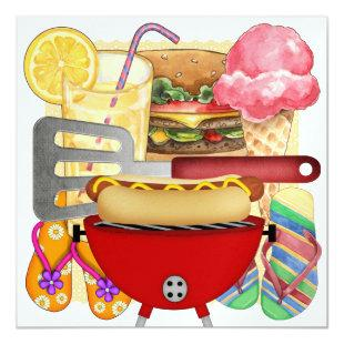 BBQ Cook Out Invitation