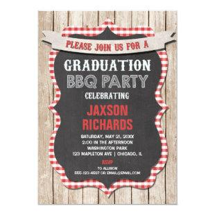 BBQ Graduation, picnic party graduation Invitation