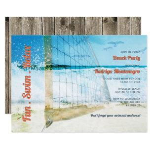 Beach Themed Graduation Party High School Casual Invitation