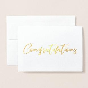 Beautiful Chic Calligraphy Congratulation Foil Card