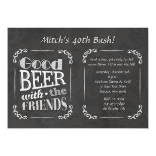 Beer With Friends Invitation