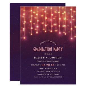 Best Graduation Party 2020 String lights Grad Invitation