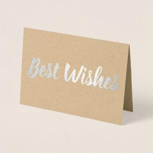 Best Wishes Foil Card