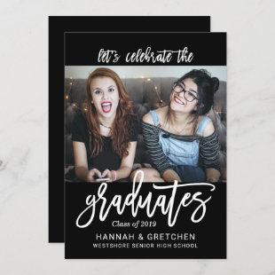 BFF Siblings Friends Graduation Party Invitation