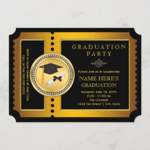 Black and Gold College Graduation