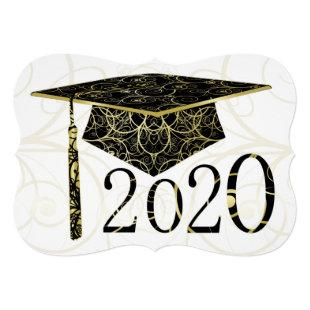 Black and Gold Floral Cap 2020 Card