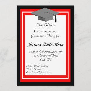 Black And Red Graduation Party