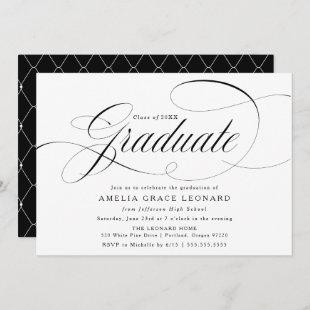 Black and White | Eloquence Graduation Party Invitation