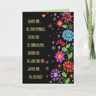 Black Floral All You Need Congrats Card