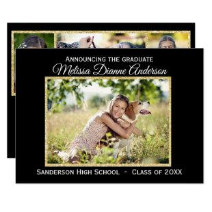 Black/Gold Background - 3x5 Grad Announcement