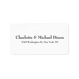 Black White Classical Stylish Elegant Family Label