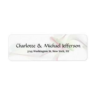 Black White Creative Trendy Elegant Curves Family Label