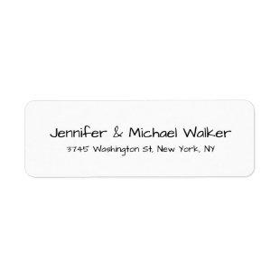 Black White Handwriting Script Elegant Family Label