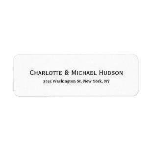 Black White Modern Creative Trendy Elegant Family Label