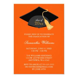 Blue Cap and Tassel Graduation Announcement