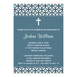 Blue Graduation Announcement / Invite