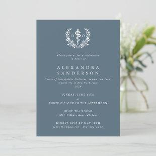 Blue-Gray Doctor of Osteopathic Medicine Invitation