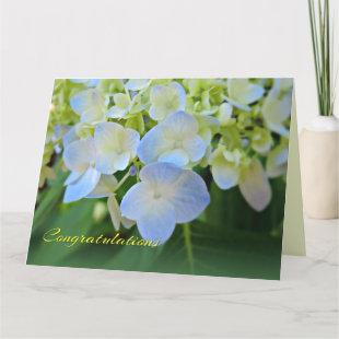 Blue Hydrangea Any Occasion Congratulations Card