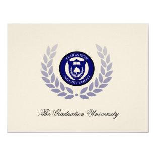 Blue School or University Graduation Announcements
