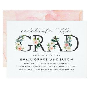 Blush Florals | Graduation Party Invitation